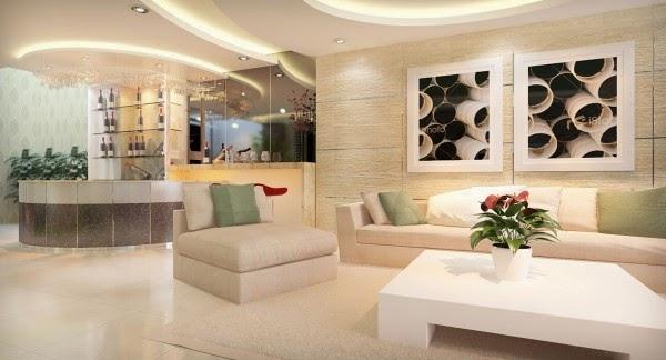 Chọn gạch ốp tường cho phòng khách thêm sang trọng