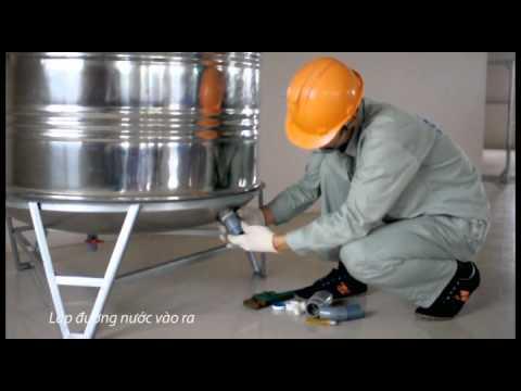 Cách lắp đặt bồn nước inox Sơn Hà chuẩn nhất