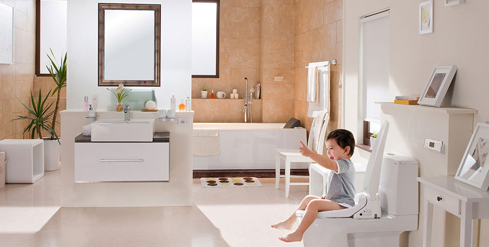 chọn gạch lát nền đồng tâm cho phòng tắm
