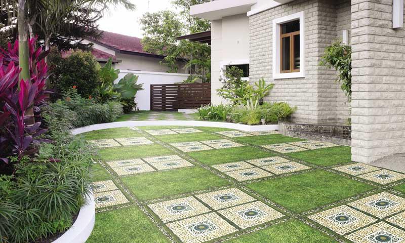 4 ý tưởng dùng gạch lát sân vườn Đồng Tâm độc đáo, đẹp mắt