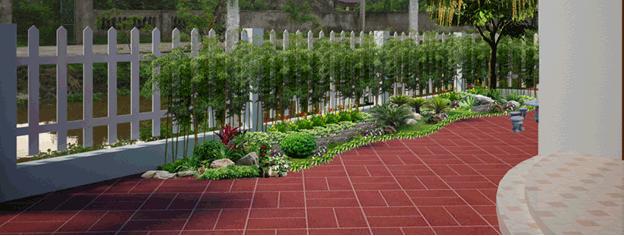 Mẫu lát sân vườn hình zíc zắc