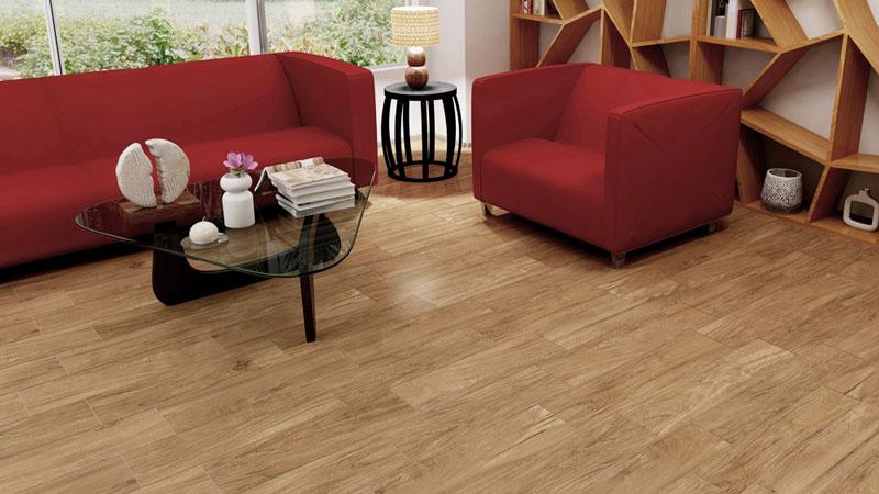 gạch vân gỗ cho không gian sống tinh tế