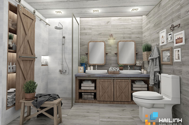 không gian sống tinh tế với gạch lát nền vân gỗ