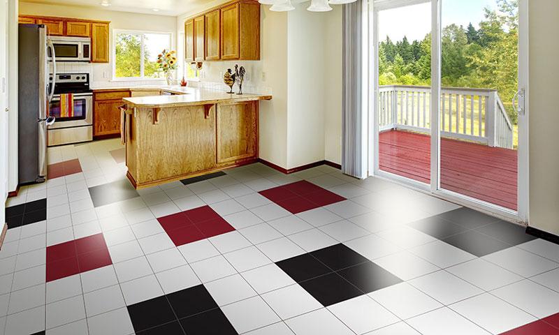 Mẫu gạch ốp tường bếp đẹp Đồng Tâm Ceramic trơn 1 màu
