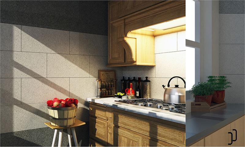 Mẫu gạch ốp tường phòng bếp đẹp Đồng Tâm trong bộ sưu tập Diamond