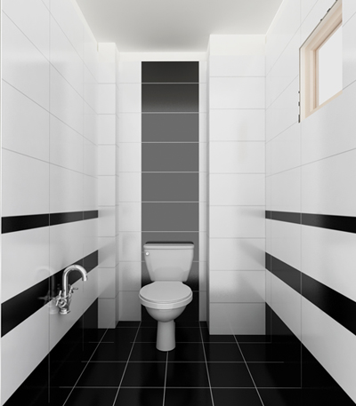 Mẫu gạch ốp phòng tắm có độ bóng