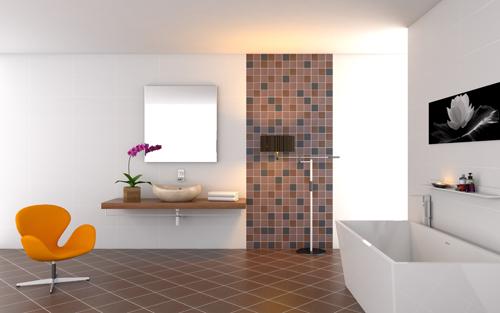 Mẫu gạch lát nền sử dụng màu sắc tối giản