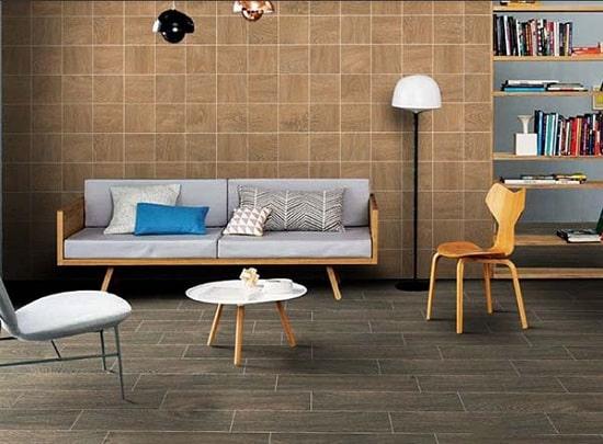 Mẫu gạch ốp tường giả gỗ đẹp mang đến vẻ đẹp độc đáo, mới lạ