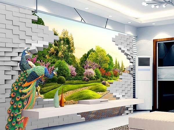 Chọn gạch ốp tường tranh đẹp 2020