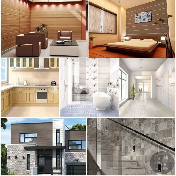 Lựa chọn gạch ốp tường cho các không gian gia đình