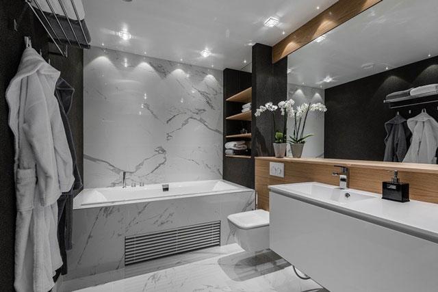 Tại sao gạch lát nền phòng tắm vân đá được yêu thích sử dụng?