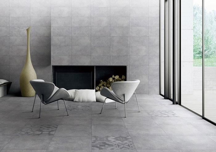 2 cách phối màu gạch ốp tường phòng khách với gạch lát nền phổ biến nhất