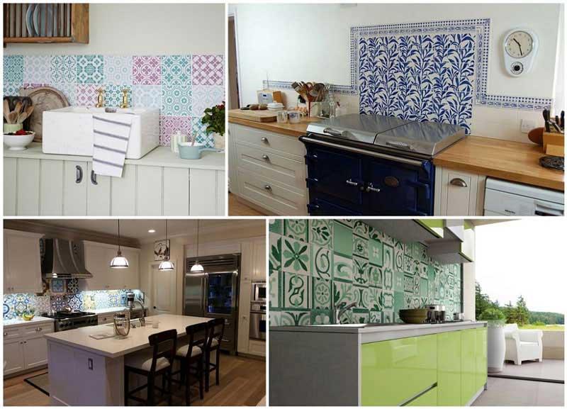 Chọn lựa màu sắc gạch ốp tường bếp