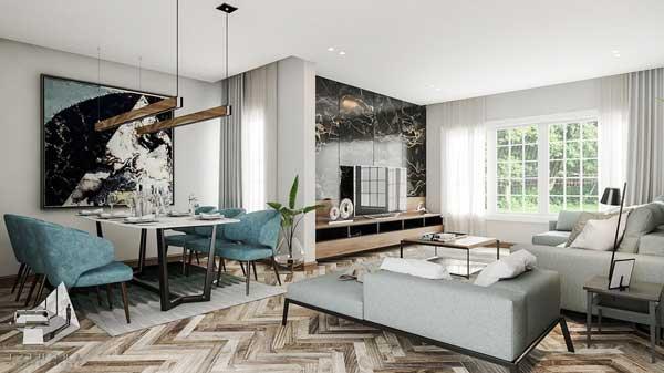 Giới thiệu các mẫu gạch ốp phòng khách đẹp - sang trọng nhất 2021