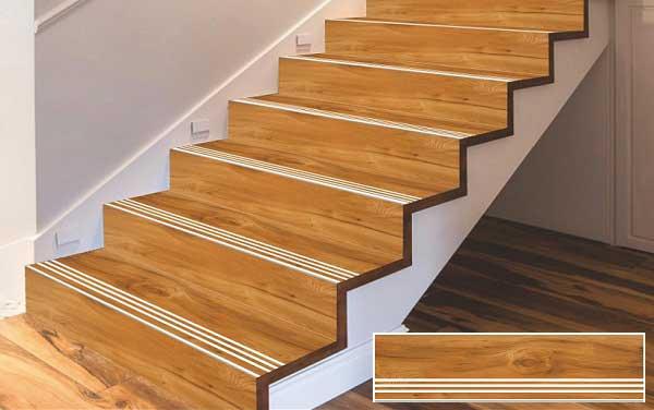 Những ưu điểm khi sử dụng gạch giả gỗ cầu thang