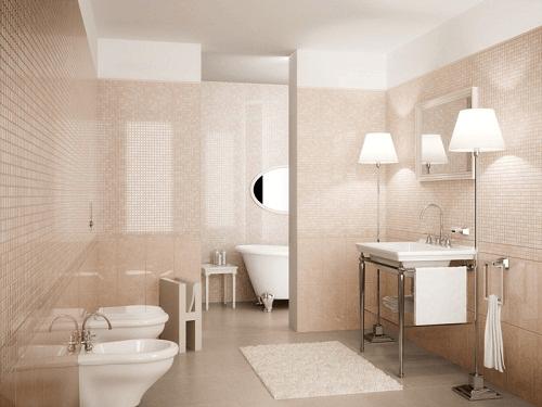 Mẹo phối màu gạch phòng tắm đẹp hiện đại sang trọng