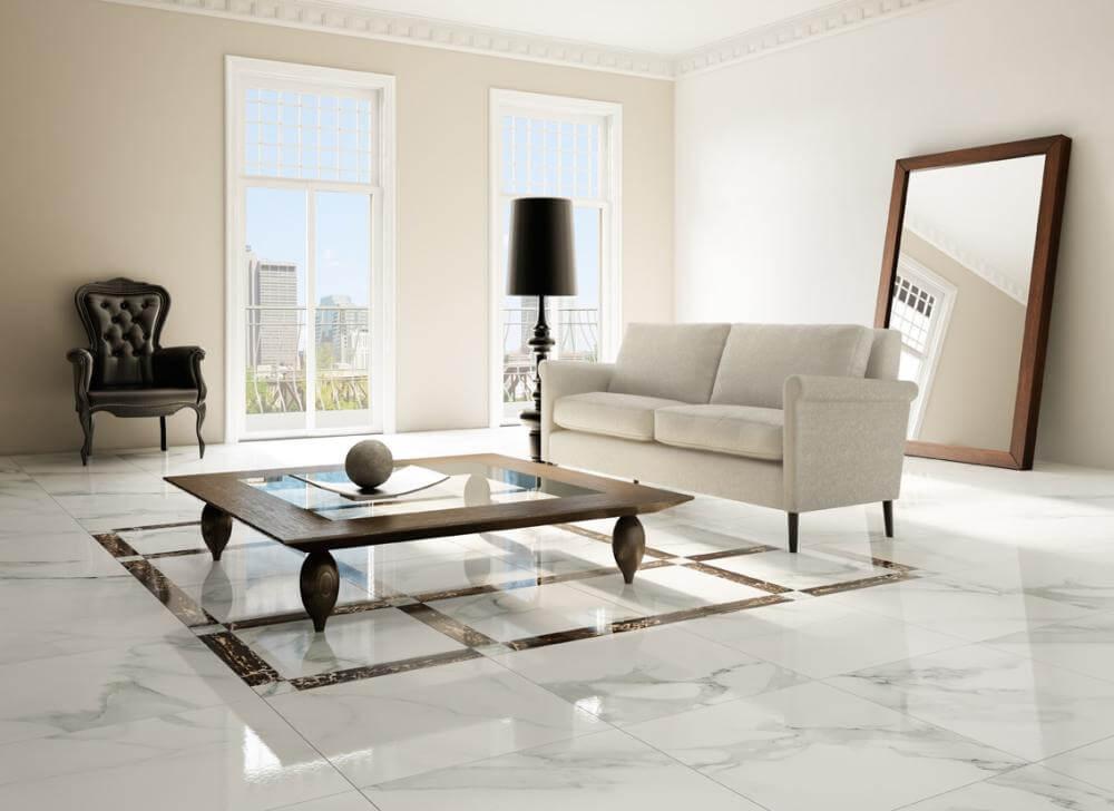 Tường màu trắng nên lát gạch màu gì đẹp - hợp phong thủy?